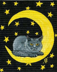 Kitty in the Moon
