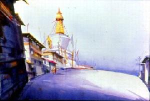 BOUDHA  MONESTRY IN THIMPU(BHUTAN)