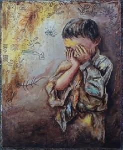 Figure en pleurs